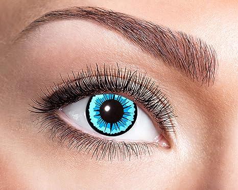 Eyecatcher - Farbige Kontaktlinsen für 12 Monate, Engel, 2 Stück Jahreslinsen, blau, / BC 8.6 mm / DIA 14.5 mm