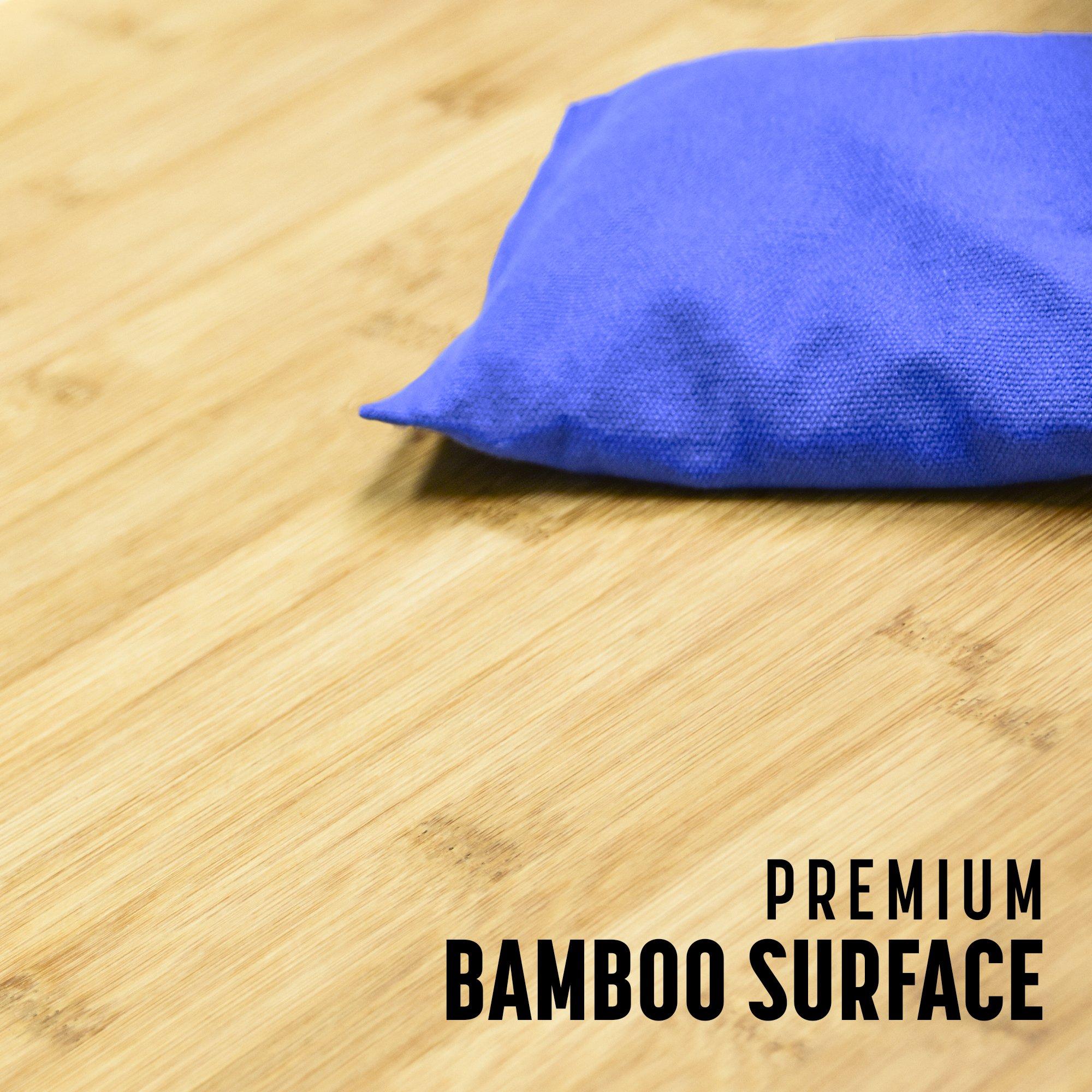GoSports Bamboo Regulation Size Bamboo Cornhole Set   Includes 8 Bean Bags & Carrying Case by GoSports (Image #6)