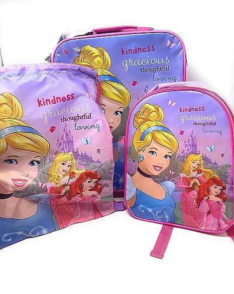 Disney Princess - Juego de Equipaje de 3 Piezas con Maleta ...