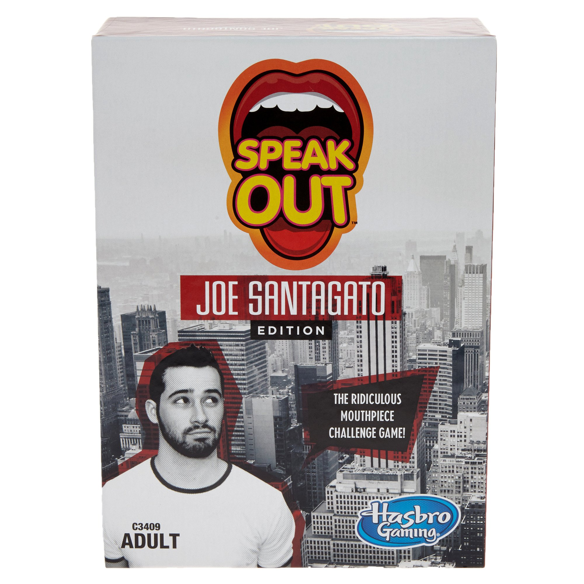 Hasbro C3409 Speak Out Joe Santagato Edition Adult Game Party Game (Pack of 205)