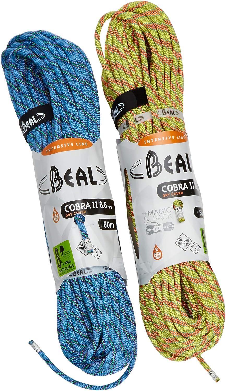 BEAL C086.502 - Cuerda de escalada, color blanco (bleu/anis ...
