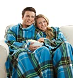 Amazon Price History for:Snuggie Soft Fleece Blanket with Sleeves and Pockets, Blue Plaid