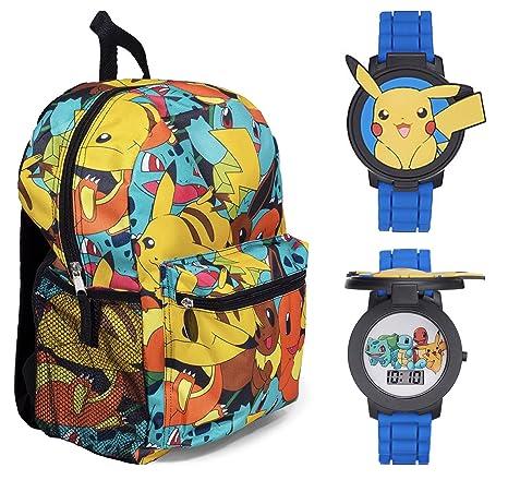 """Pokemon 16 """"Multi mochila de impresión con Pikachu Flip Up – Reloj ..."""
