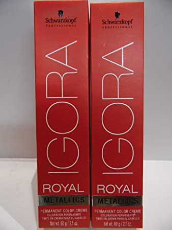 34a1892daa Schwarzkopf Igora Royal Metallics Hair Color (2 Tubes) 7-16 Medium Blonde  Cendre Chocolate by SCHWARZKOPF: Amazon.co.uk: Beauty