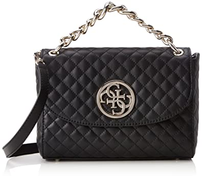 4840183c2deb Amazon.com: GUESS G Lux Quilted Flap Crossbody: Clothing