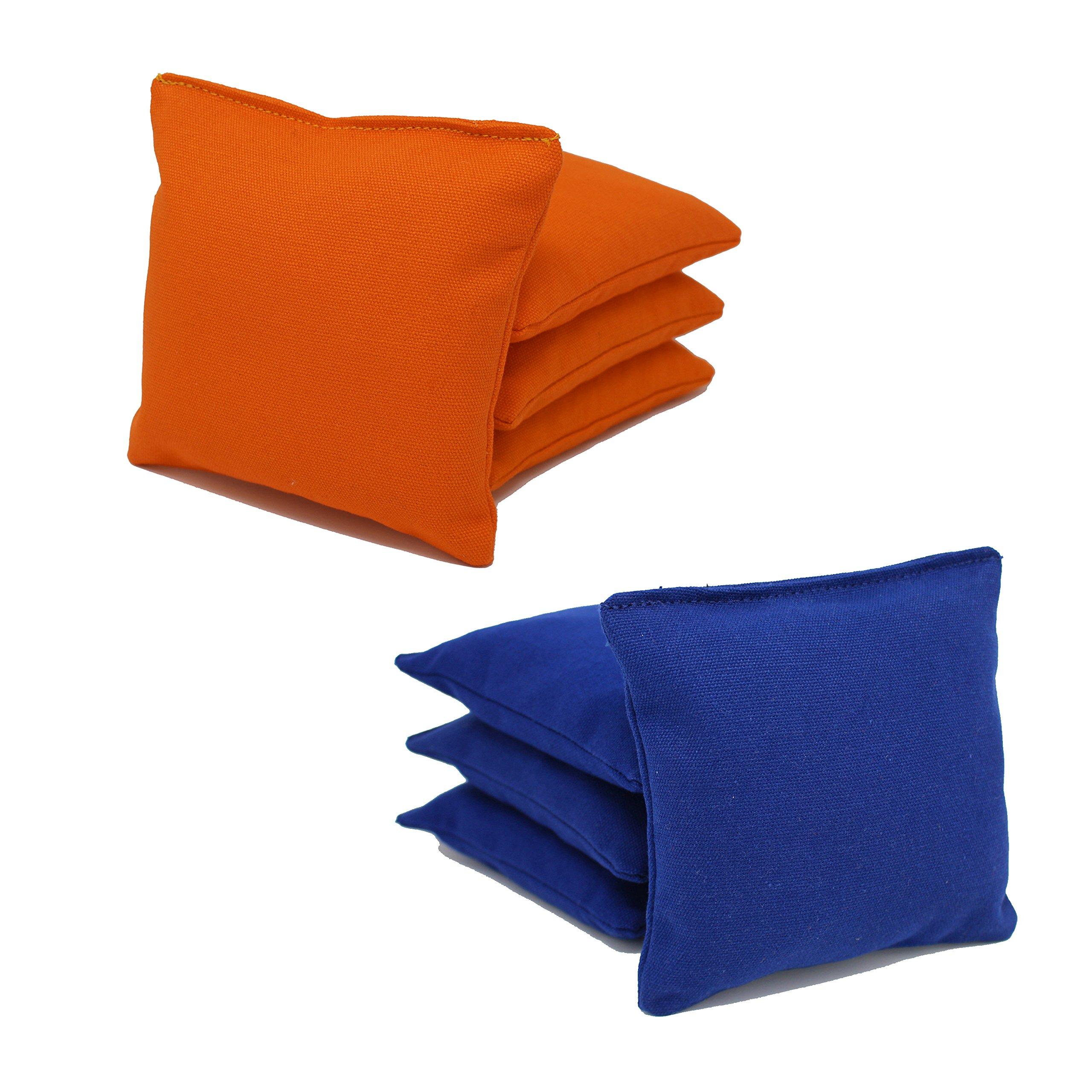 Cornhole Bags Set - (4 Orange, 4 Royal Blue) By Free Donkey Sports by Free Donkey Sports