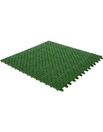 Baldosas flexibles de plástico, 55,5 x 55,5 cm, interior y