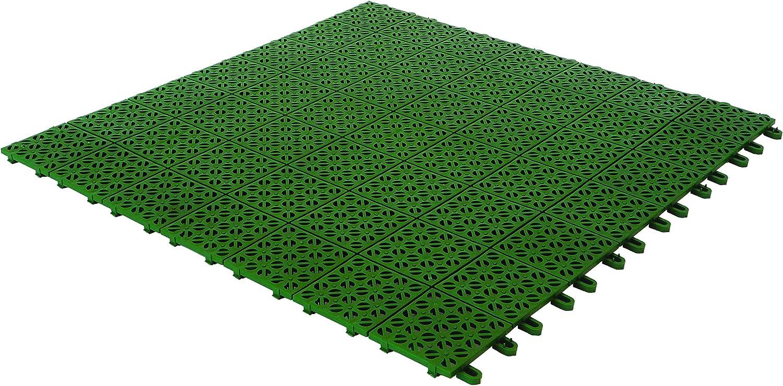 Multiplate 03MPVE - Azulejos Flexibles de plástico, 55,5 x 55,5 cm, Color Verde