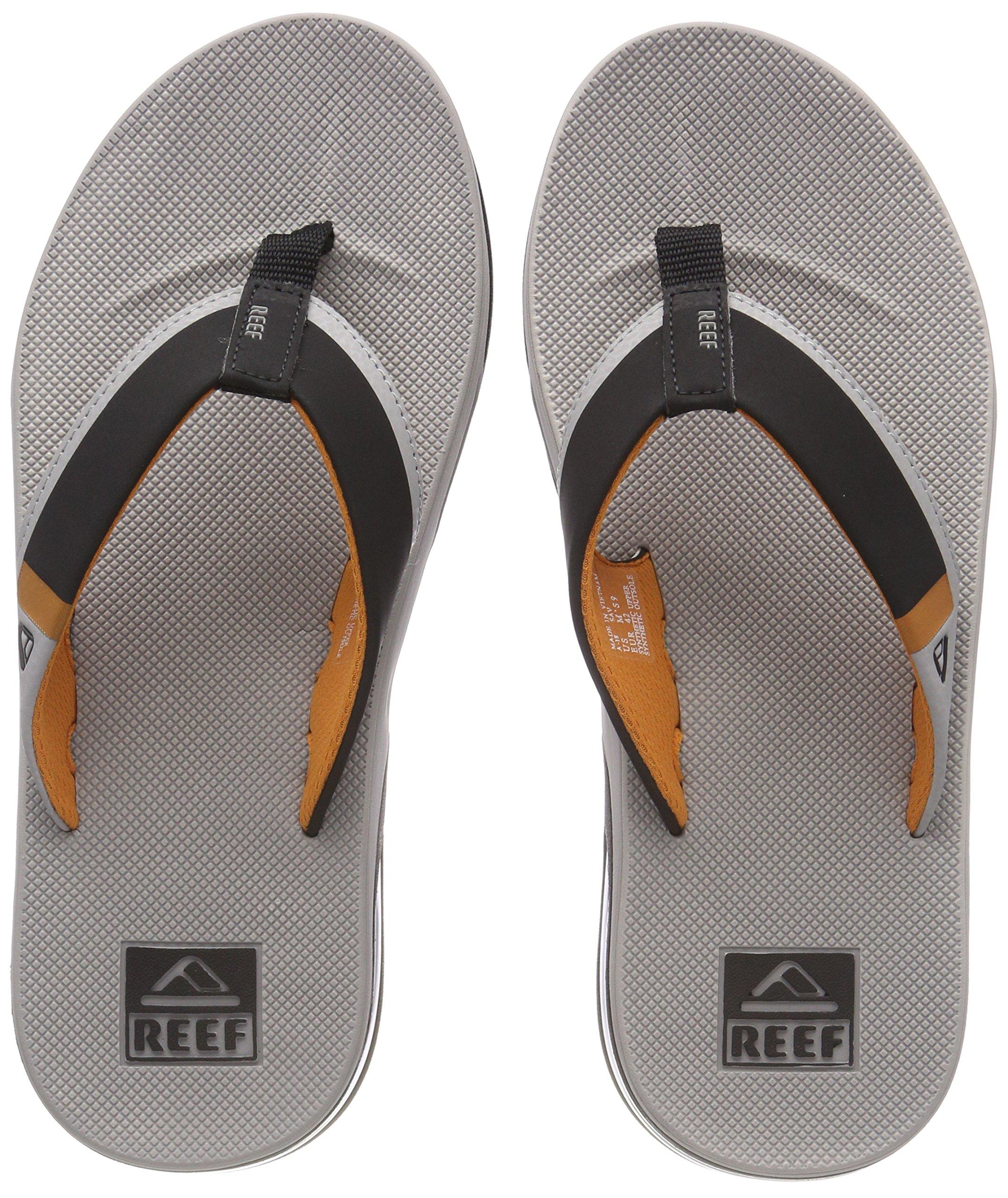 fe040d83d199 Galleon - Reef Men's Fanning Low Sandal (8 D(M) US, Grey/Orange)