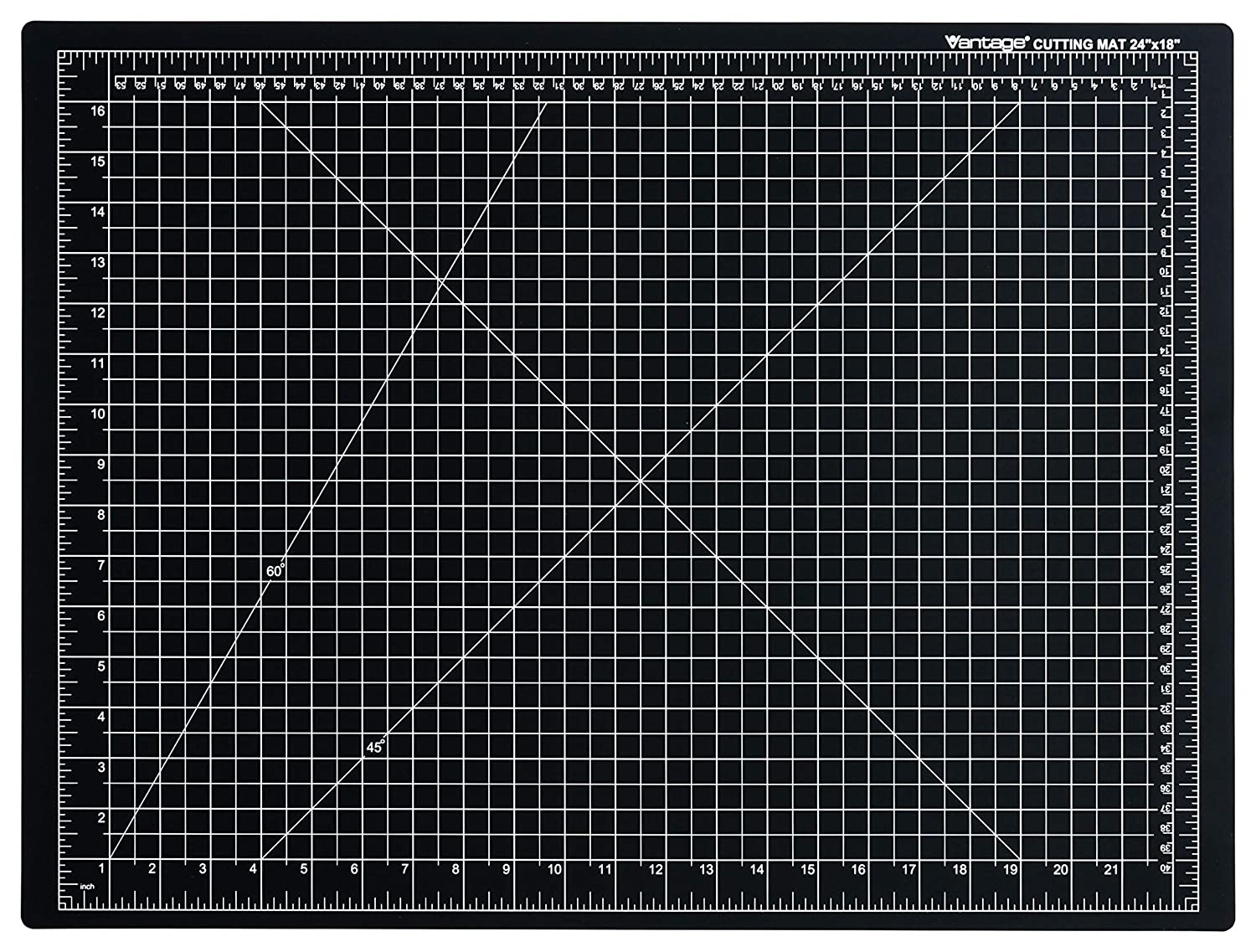 Dahle Vantage 10674 Self-Healing 5-Layer Cutting Mat Perfect for Crafts and Sewing 36 x 48 Black Mat