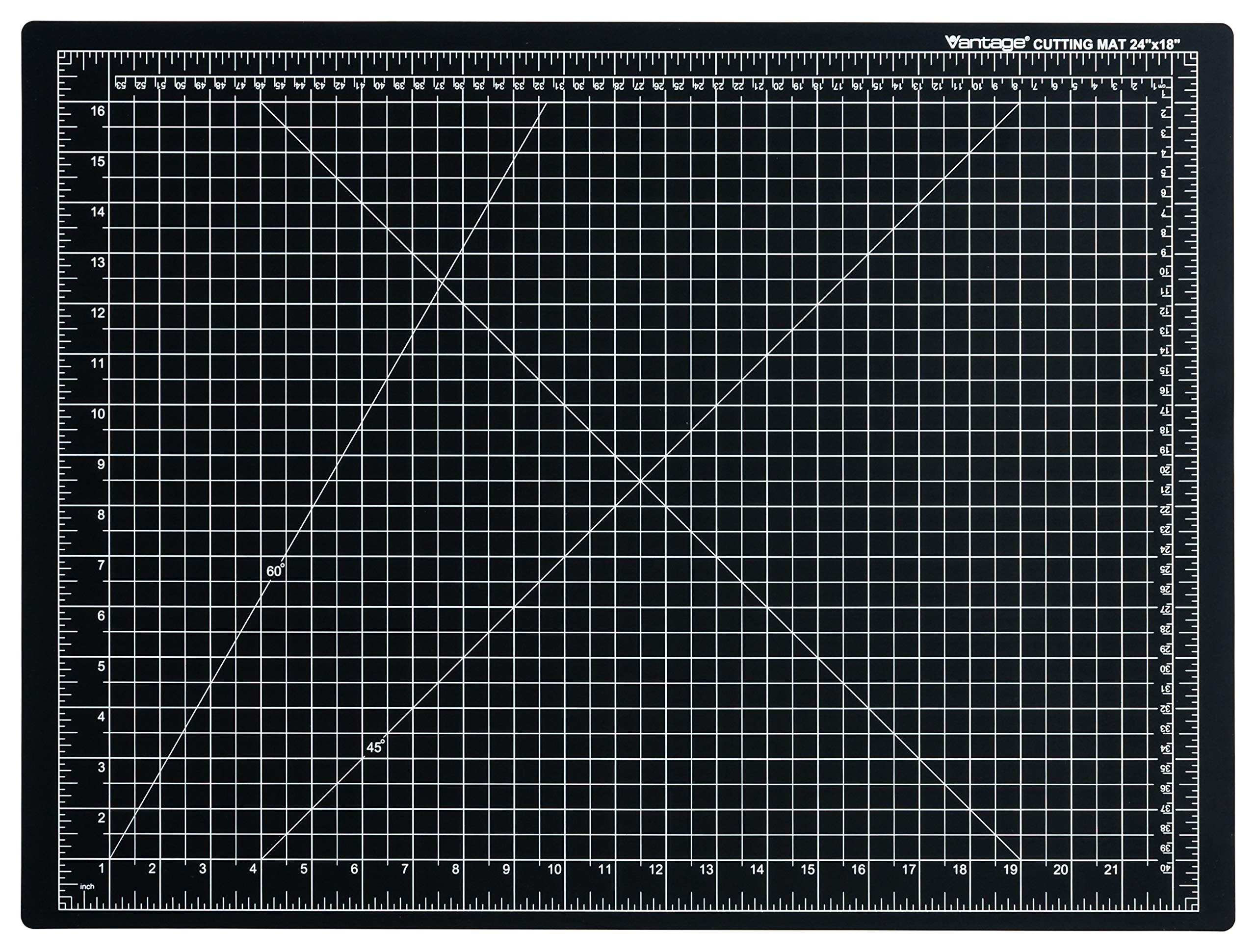 Dahle Vantage 10672 Self-Healing 5-Layer Cutting Mat Perfect for Crafts and Sewing 24'' x 18'' Black Mat by Dahle