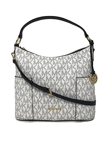 e62b2a98ef23 Michael Kors Anita Signature PVC Large Convertible Shoulder Bag in Navy  White  Handbags  Amazon.com