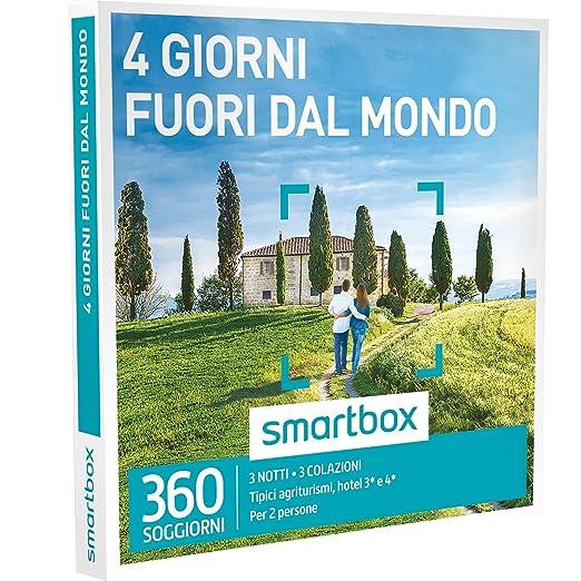 2 opinioni per SMARTBOX- Cofanetto Regalo- 4 GIORNI FUORI DAL MONDO- 350 agriturismi o hotel 3*