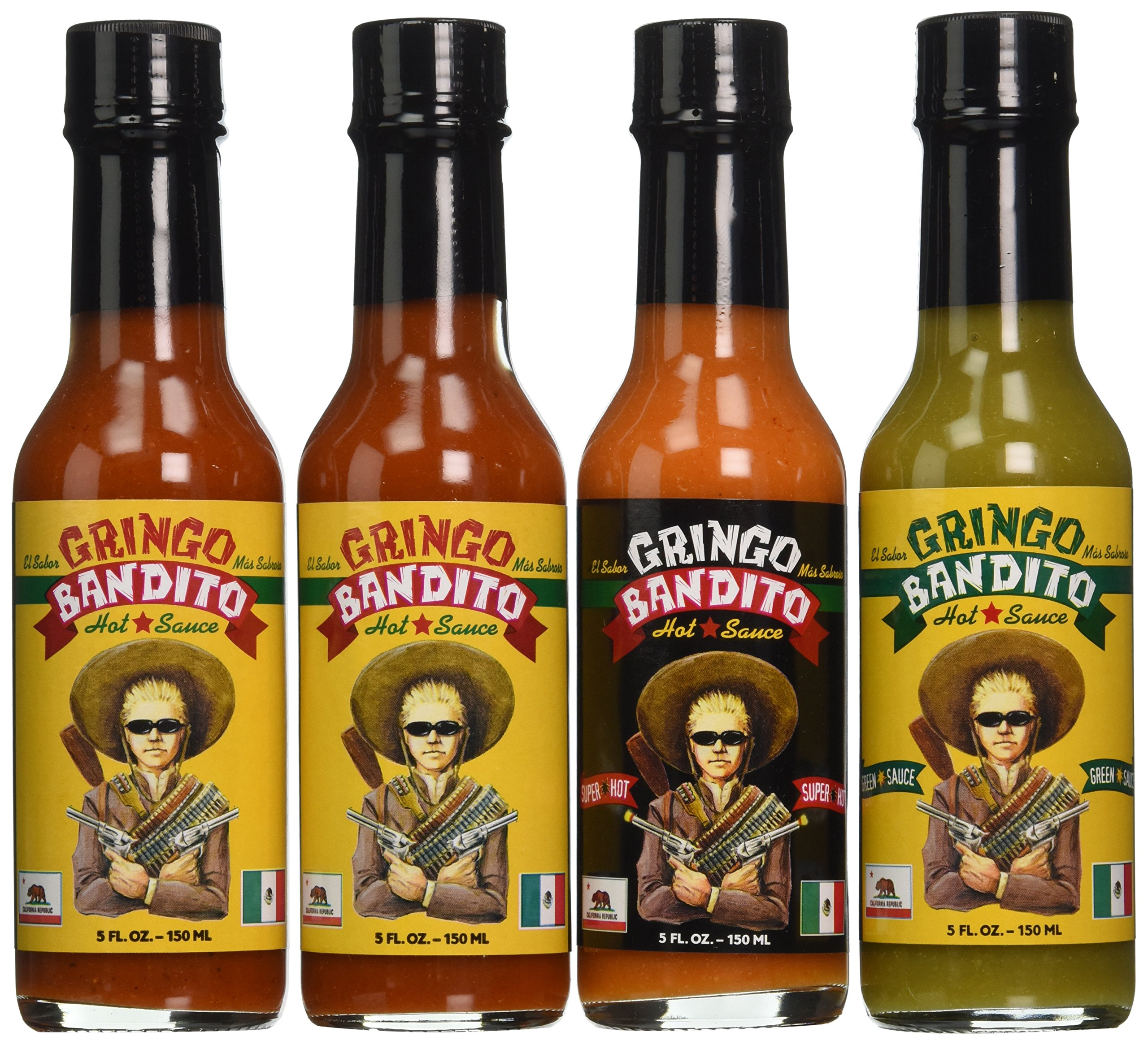 Gringo Bandito GB Collection Hot Sauce Variety Pack, 5 Ounce (Pack of 4)