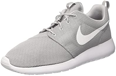 d80211d8435c5 Image Unavailable. Image not available for. Color  NIKE Men s Rosherun Wolf  Grey White Running Shoe ...