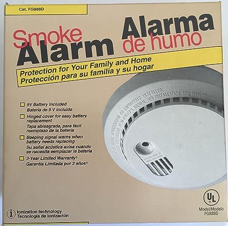 Family Gard Smoke Alarm Model Number FG888D