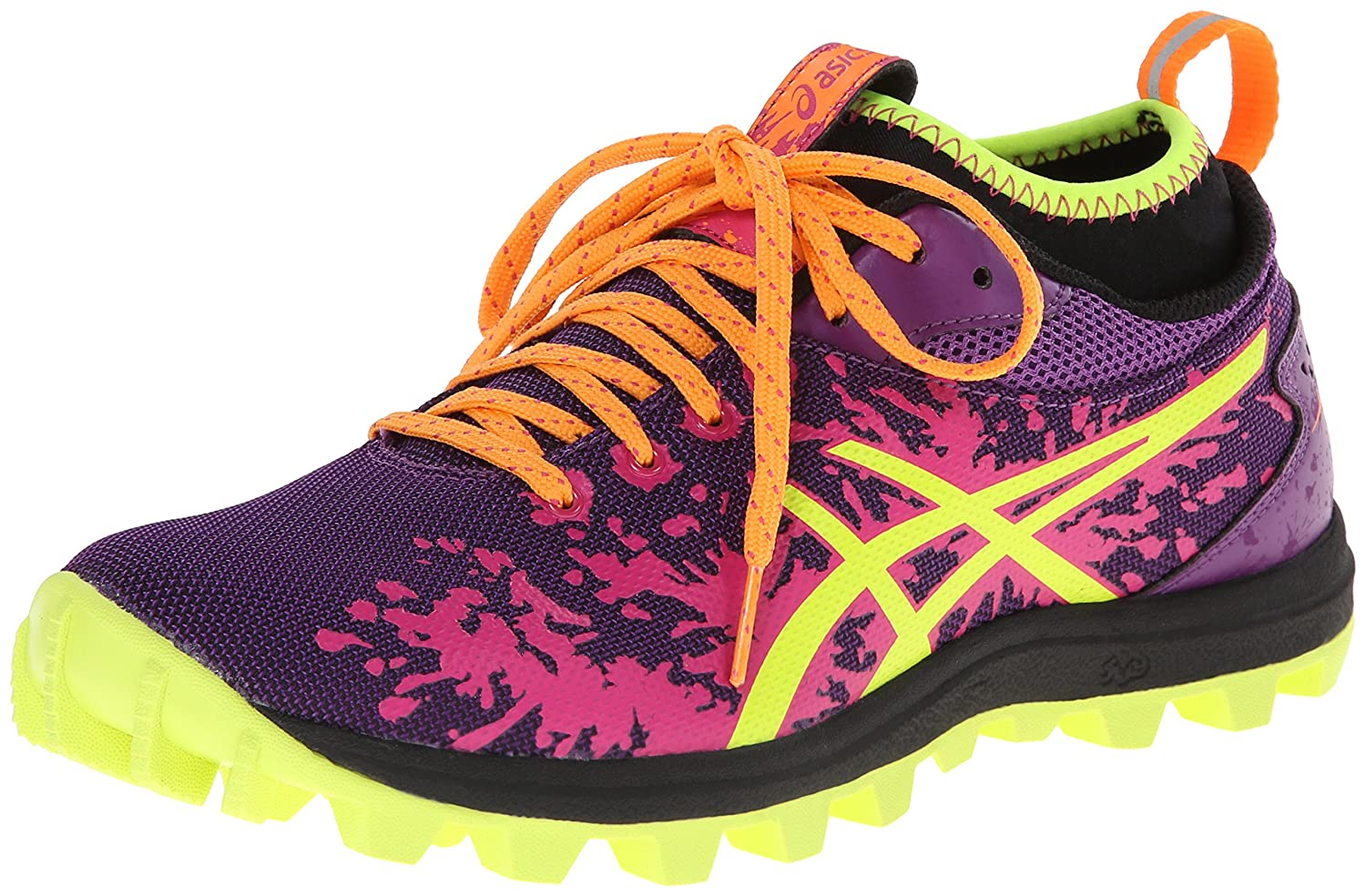 Amazon.com | ASICS Women's Gel-Fujirunnagade Running Shoe, Purple/Flash  Yellow/Hot Pink, 12 M US | Trail Running