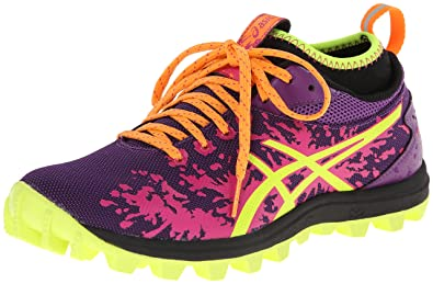 ASICS Women's Gel-Fujirunnagade Running Shoe,Purple/Flash Yellow/Hot Pink,