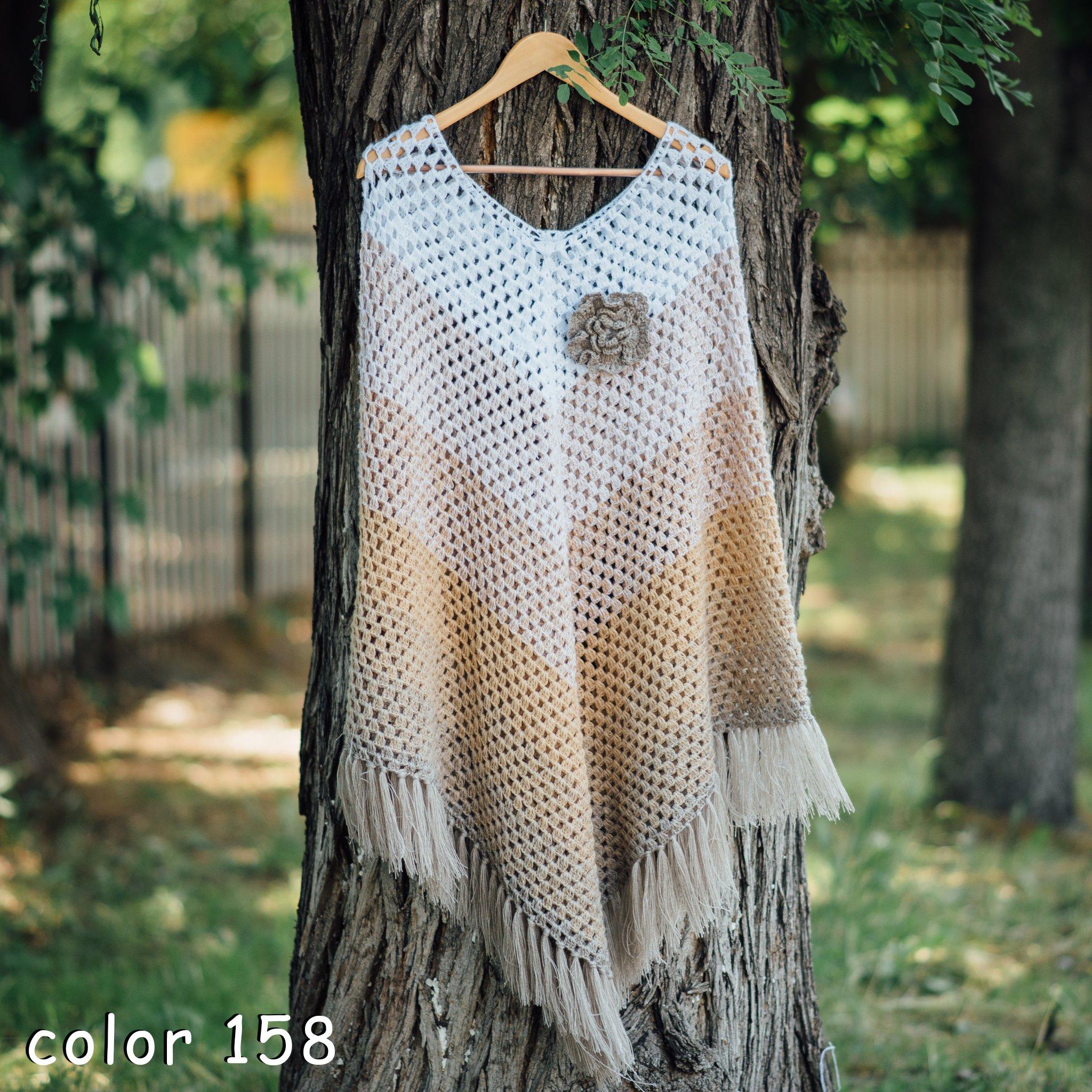 ZuzuHobby Gradient Acrylic Yarn Cake, Big roll, Ombre Effect, Hand Knitting, Crocheting, Knitting Yarn for Machine Knitting, Multicolor, 1, 15 Ounces / 2187 Yards (126)