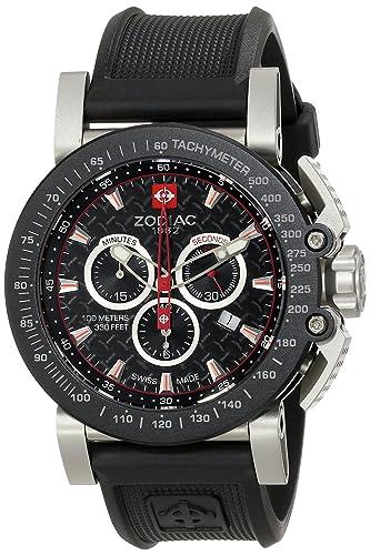 Zodiac ZO8503 - Reloj para hombres, correa de goma color negro: Zodiac: Amazon.es: Relojes