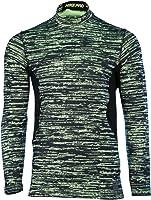 Nike Men's Dri-Fit Pro Combat Hyperwarm Fitted Training Shirt-Volt/Black