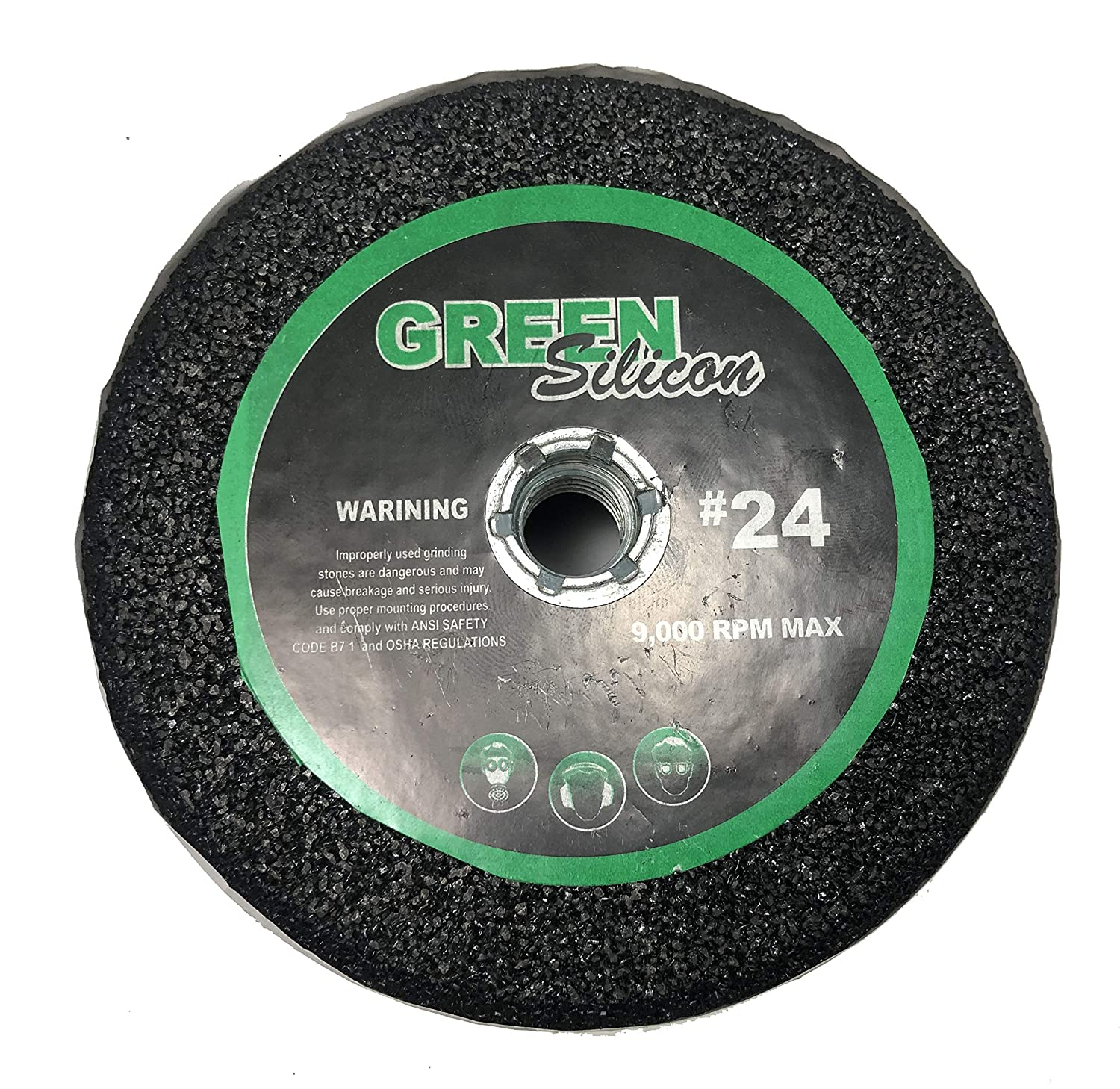 Grit 24 for Shaping Terrazo 5 Green Silicon Carbide Grinding Stone Arbor 5//8-11 Travertine Granite Marble