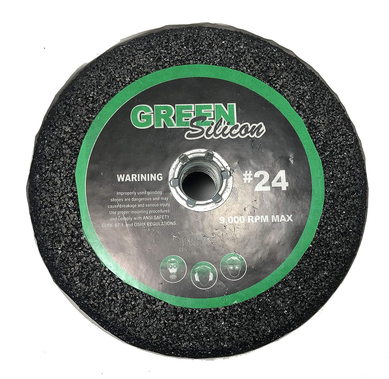 """5/"""" Green silicon carbide grinding stone"""