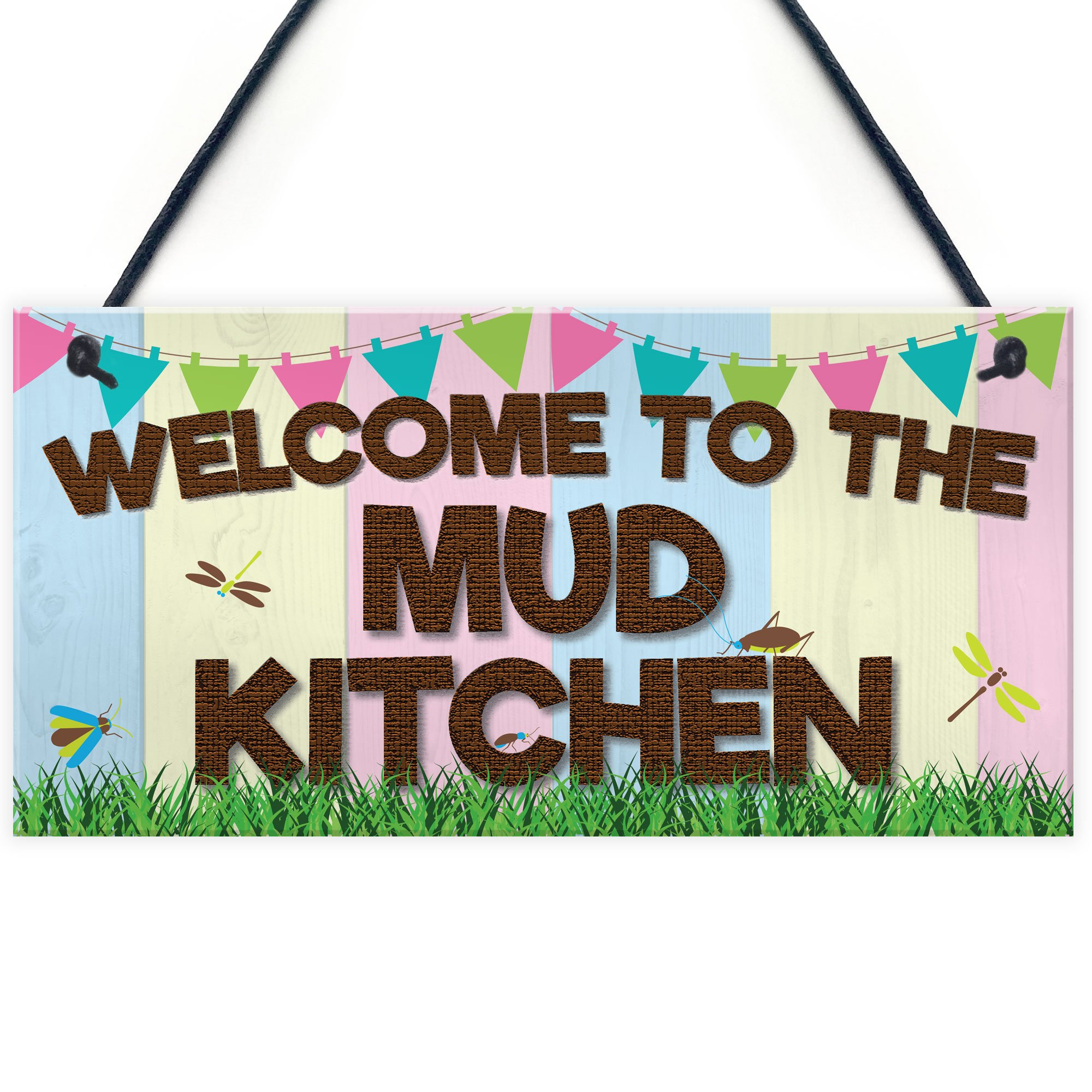 XLD Store Welcome Mud Kitchen Home School Garden Outdoor Hanging Plaque Plot Gift Sign