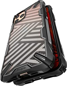 Ringke Fusion X Design Case Compatible with iPhone 11 Pro Case (2019) - Stripe Black