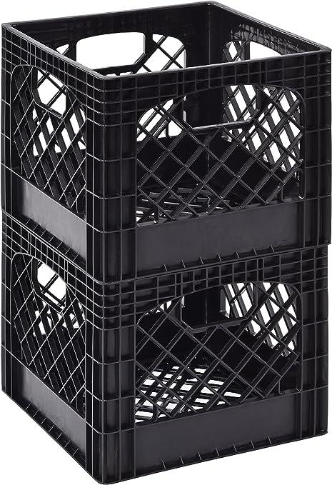 4 X Pack of 2 Muscle Rack MK131311-B2PK 11 x 13 x 13 Black Milk Crate