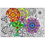 """Amazon Price History for:Mandala Madness - Giant Wall Size Coloring Poster - 32.5"""" X 22"""" (Great for Kids, Adults, Classrooms, Care Facilities and Families!)"""