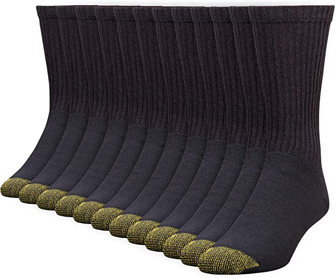 Gold Toe Men's 656s Cotton Crew Athletic Sock MultiPairs