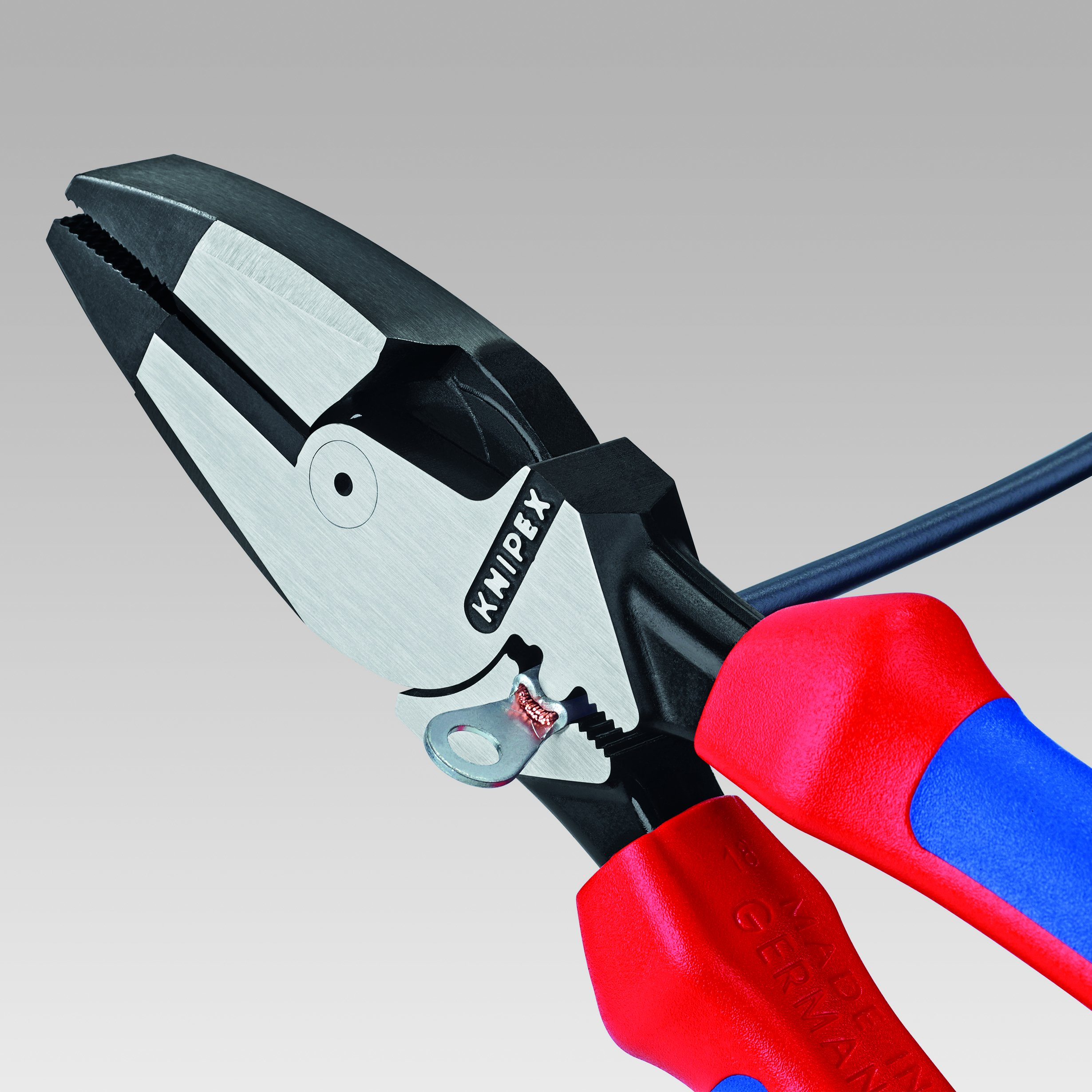Knipex Tools 09 12 240 T BKA 9 1/4'' Ultra-High Leverage Lineman's Pliers with Fish Tape Puller, Crimper, Tether Attachment by KNIPEX Tools (Image #4)