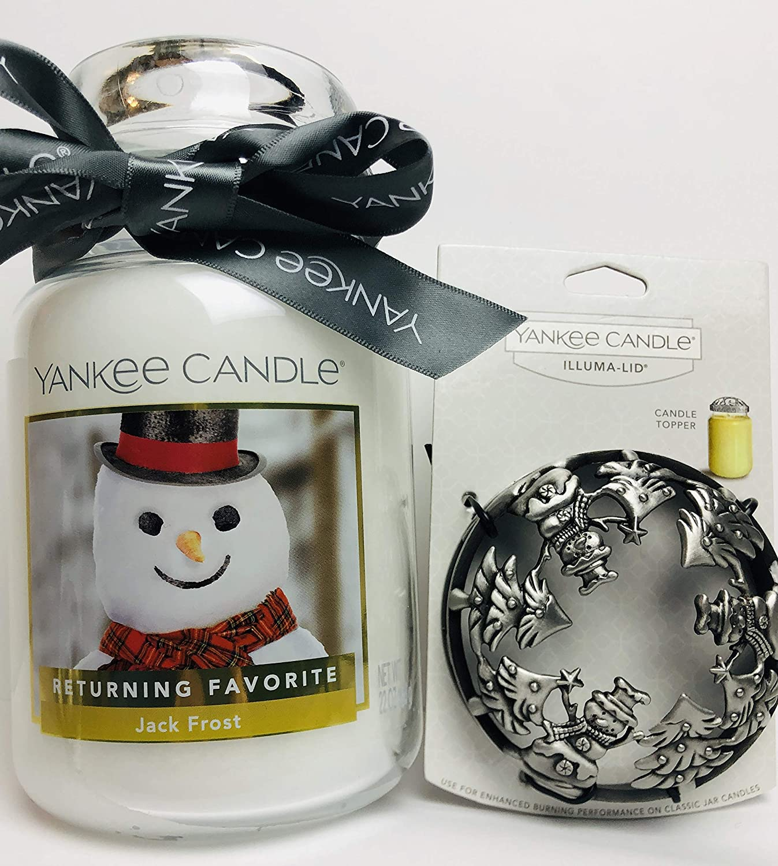 Jackson Frost Snowman Chrome Illuma Lid Jar Topper Yankee Candle NEW christmas