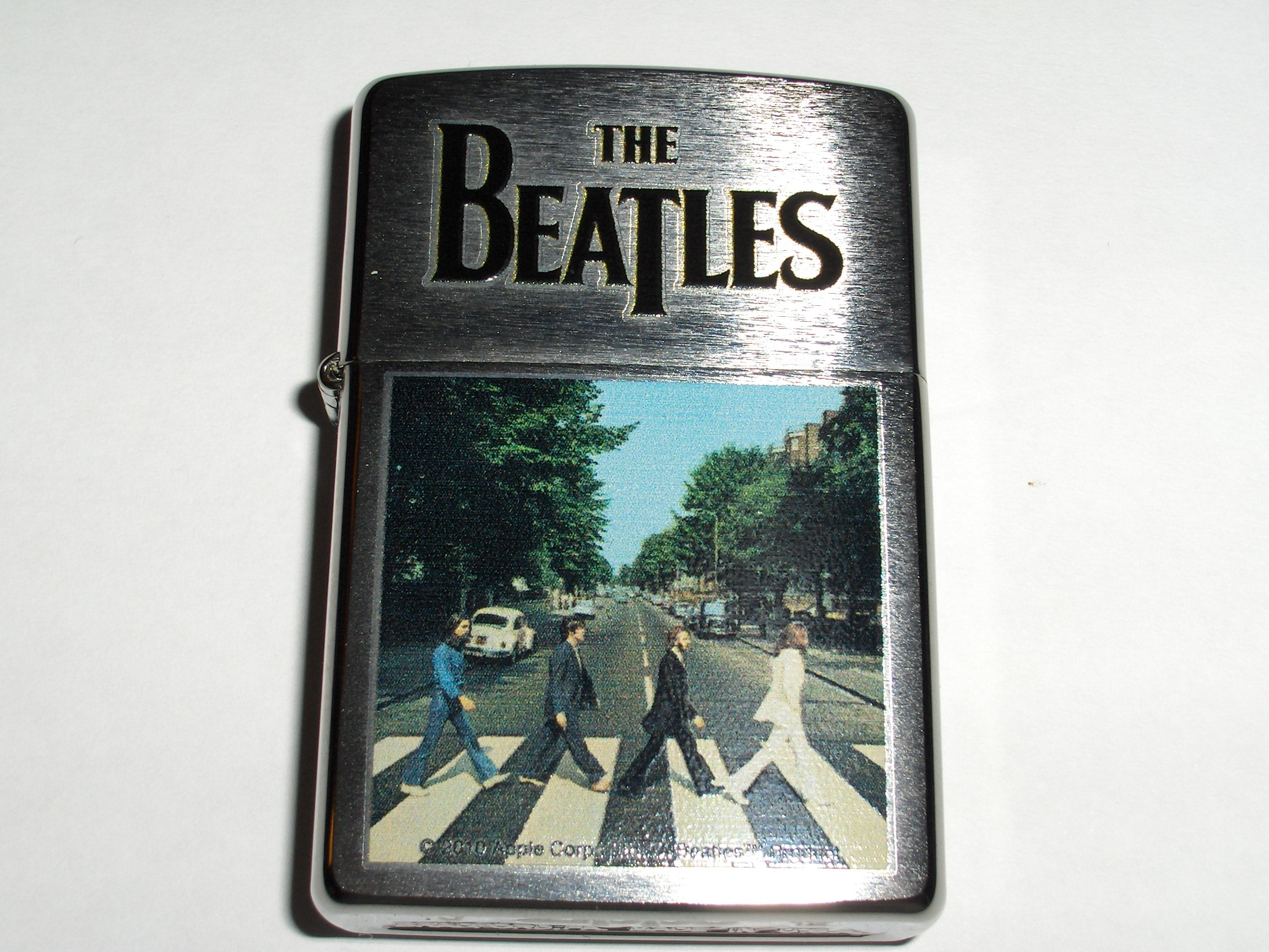 Zippo Brush Chrome The Beatles Lighter (Silver, 5 1/2x 3 1/2-Cm)