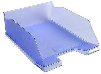 Exacompta Combo Maxi – Juego de 4 bandejas para el correo, color azul translúcido