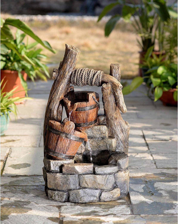 Jeco Tree Trunk and Pots Indoor/Outdoor Fountain