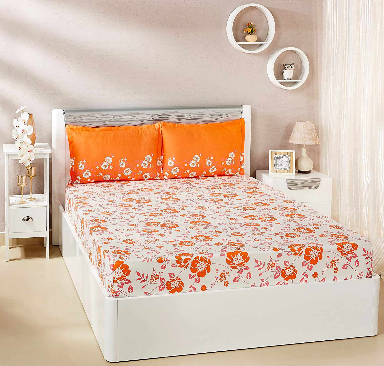 amazon-brand-solimo-jasmine-zest-144-tc-100-cotton-double-bedsheet-with-2-pillow-covers-peach-2