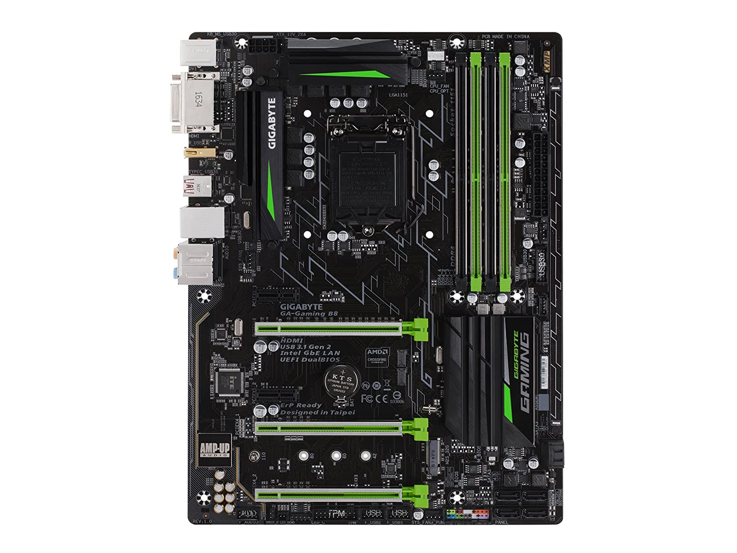 919qBhvdqFL._SL1500_ amazon com gigabyte ga gaming b8 lga1151 intel atx 2 way  at bakdesigns.co