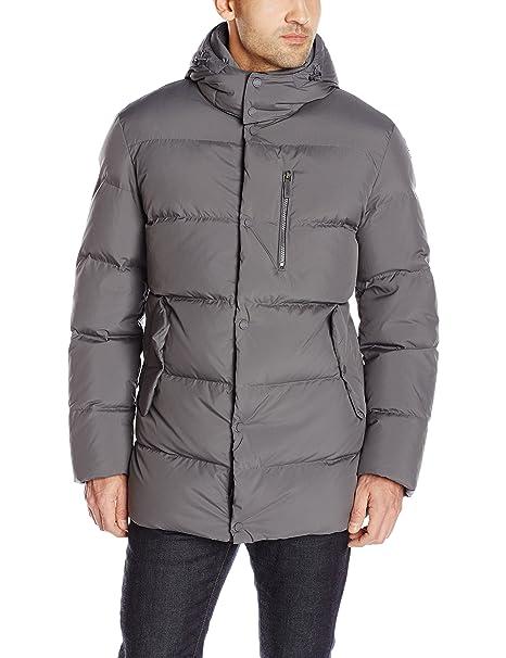 243662b789 Geox Men's Down Jacket with Hood, Titanium, 54: Amazon.ca: Clothing ...