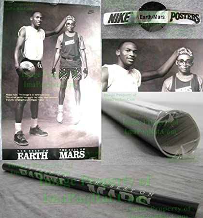 17ac9d133be0 Amazon.com   Original Vintage NIKE Poster Michael Jordan • Best on  EARTH MARS • Spike Lee - Full Size 24