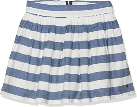 Tommy Hilfiger Iconic Chambray Stripe Skirt Falda para Niñas ...