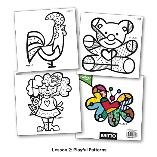 britto color like an artist coloring book figures amazon canada
