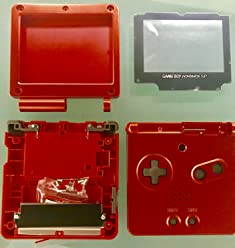 Game Boy Advance SP Shell Crimson Red