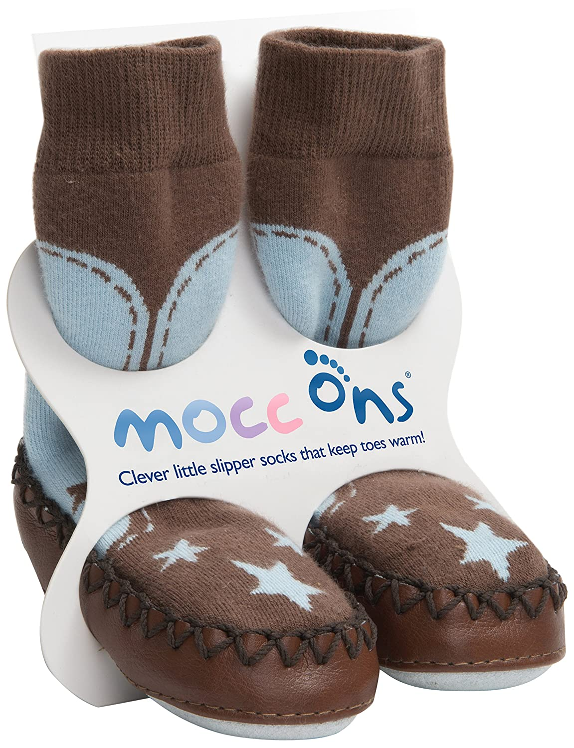 Mocc Ons Cute Moccasin Style Slipper Socks - 6-12 Months, Cowboy MOCCONCOWBOY6-12