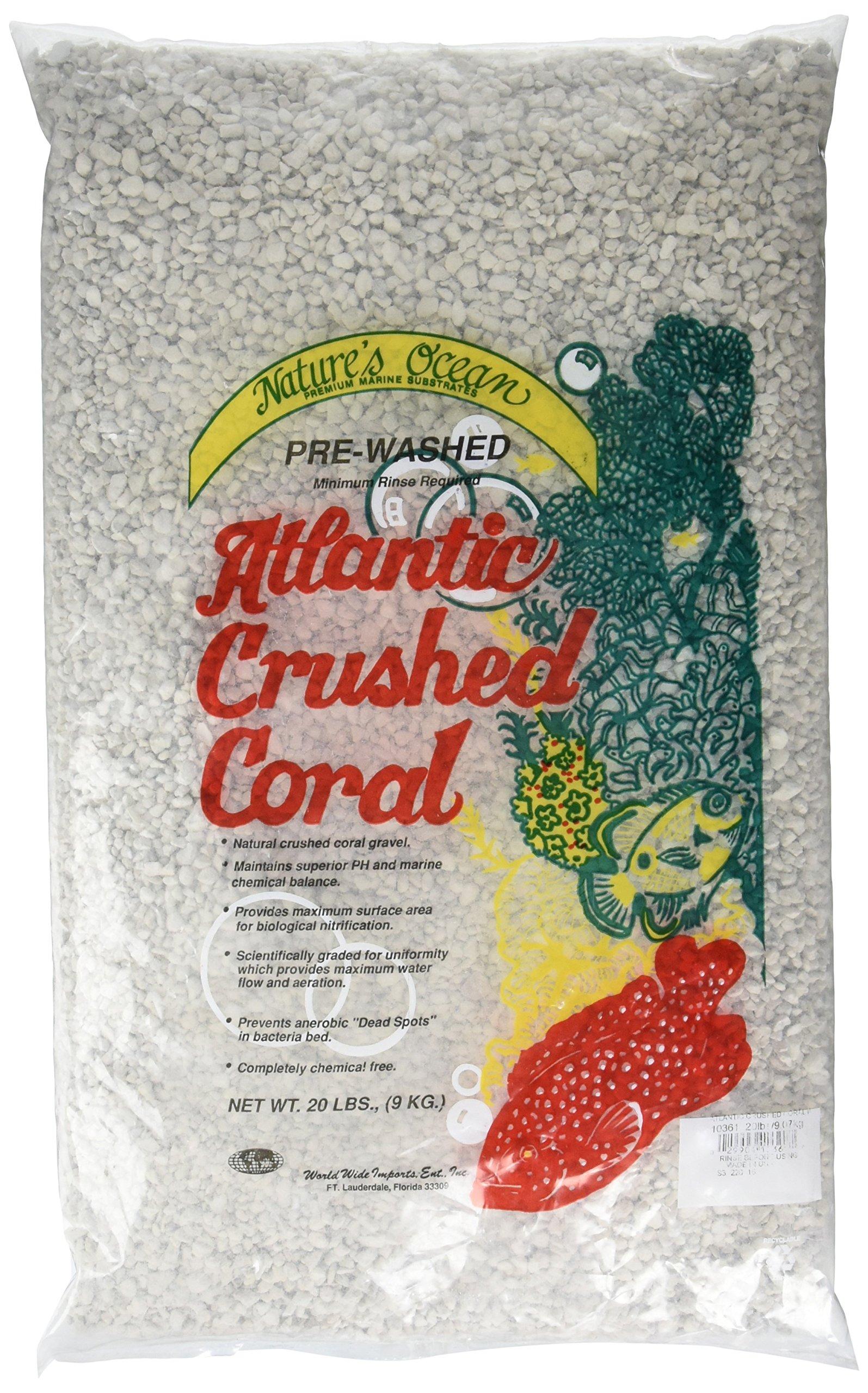 Nature's Ocean No.8 Premium Atlantic Crushed Coral with Aragonite, 20-Pound