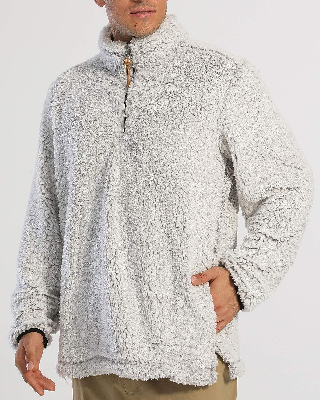 MAGCOMSEN Mens Lightweight Sweatshirt Casual Outdoor Pullover Fleece Soft Stand Collar Coats with Zipper