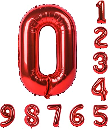 40 x Helium Quality Premium Balloons Red Great for Party Decoration Brand New