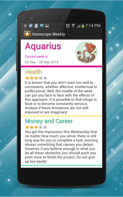 Amazon com: Horoscope Weekly: Appstore for Android