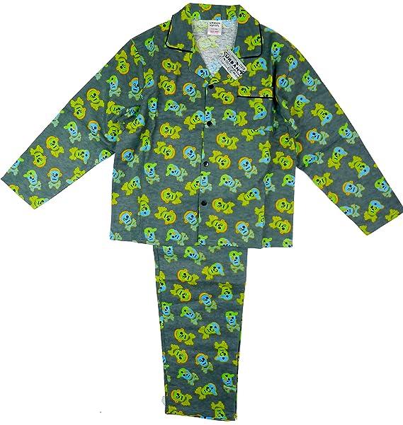 Niño Con Botones Zombie Esqueleto Calavera Wincyette Pijama tallas desde 2 a 6 Años - algodón